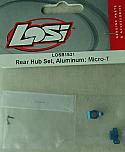 Team Losi Aluminum Rear Hub Set/Micro-T/B/DT  LOSB1531