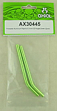 Axial Scorpion Green Aluminum Threaded Pipe 6x101mm 30 Degree (2pcs.)