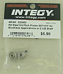 Integy HD Steel 0.6M Pitch 20T/21T Brushless Motor Pinion Gear Set INTC23553