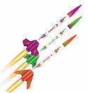Estes 3 Bandits Flying Model Rocket Kits (3 Rockets) 550ft EST2435