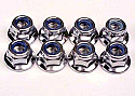 Traxxas 5mm Flanged Lock Nuts (8)  TRA5147