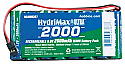 Hobbico HydriMax NiMH 8C 9.6V 2000mAh Flat Tx U Conn Battery Pack  HCAM6367