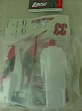 Team Losi Mini-Slider Painted Body, White  LOSB1361