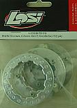 Team Losi Beadlock Ring w/Screws, Chrome/TEN-SCTE/XXX-SCT/XXX-SCB  LOSB7019