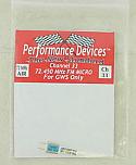 GWS 72Mhz FM Micro Receiver Crystal (Channel 33)