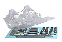 "Axial Racing 1/10 Scale Interior Set .040"" Clear/RR10 Bomber  AXIAX31328"