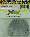 Xtreme Racing 1/10th Scale Silver Carbon Fiber Servo Plate/Axial AX10  XTR11803S