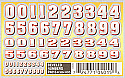PineCar Beveled Numbers Dry Transfer Decals  PINP4015