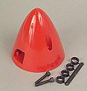 """DU-BRO Spinner 2-1/4"""" Red  DUB280"""