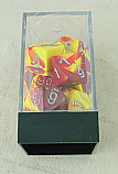 Chessex Gemini 2 Red/Yellow Dice w/Silver Markings 7-Dice Set (D20/12/10/%/8/6/4) CHX26450