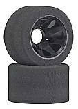 """RJ Speed 1-1/2"""" Wide Rear Foam Tires w/Black Wheels"""