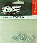 Team Losi Aluminum 8-32 x 1/2 Flat Head Screw Set   LOSA6209