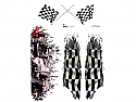 """Racers Edge 7 x 8"""" Finish Line Decal Sheet by SIC Designs  RCESIC031"""