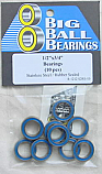 "1/2x3/4x5/32"" Blue Rubber Sealed Stainless Bearings (10 Pieces)"