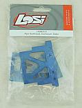 Losi 1/10 Slider Aluminum Rear Bulkhead Blue