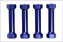 Kyosho  MP7.5/777 1/8 Scale Special Blue Anodized Radio Post
