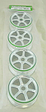 Ofna 1/8th Scale Chrome 6-Spoke Wheels (4 pcs)