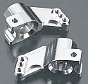 Team Associated SC10 Silver Aluminum PRO Rear Hub Carrier