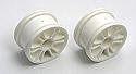 Team Associated 1/18th Scale 12-Spoke Front Wheels, White (2)/RC18B  ASC21250