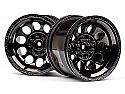 HPI Racing Black Chrome Wheel Set/Bullet/MT/ST/Flux RTR HPI101252