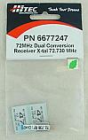 Hitec 72Mhz Dual conversion DC Channel 47 AM/FM Receiver Crystal