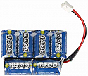 1/18th Scale Intellect 1400mAh 7.2V 6-Cell NiMH 4x2 Micro Battery Pack