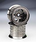 Axial Oversize 8-Hole Beadlock Monster Truck Wheels  Black Chrome