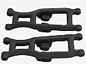 RPM Black Front Suspension A-Arms for Associated SC10B, SC10.2, and RC10T4.2FT Trucks RPM73512