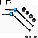 Hot Racing 1/10th Scale Steel CV Drive Shafts w/Hubs/ECX Truck/SCT  HRASECT288