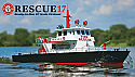 "Aquacraft R/C Rescue 17 Fireboat w/Working Water Cannon 2.4GHz RTR (38"" Long) AQUB5700"