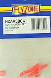 Hobbico Flyzone Control Horn/Keeper Set/Red Hawk  HCAA3804