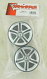 """Traxxas JATO 2.8"""" Twin-Spoke Chrome Rear Wheels"""