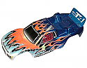 Associated RC10 T4 /T4.1 / T4.2 Blue Flames Factory Painted Truck Body ASC7469