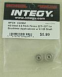 Integy HD Steel 0.6M Pitch 22T/23T Brushless Motor Pinion Gear Set INTC23554