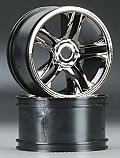 Traxxas XO-1 Split Spoke Black Chrome Rear Wheels