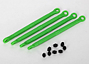 Traxxas  1/16 Grave Digger Green Composite Toe Link Front/Rear (4)
