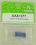 Axial 7x30mm Blue Threaded Posts for Rock Crawlers -2pc
