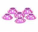 Racers Edge 3mm Aluminum Cone Washers, Purple (6)  RCE10220P