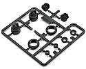 Axial Racing 1/10 Scale 10mm Shock Caps Parts Tree  AXIAX80035