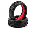 AKA 1/10 Scale 2WD Front Buggy EVO Pinstripe Tires, Clay w/Inserts  AKA13221CR