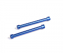 Axial Racing 1/10th Scale 7 x 60mm Blue Threaded Posts  AXIAXA1383