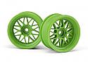 HPI Racing HRE C90 Wheel 26mm Green 6mm Offset (2)
