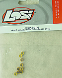 Team Losi 4-40 Aluminum Mini Nuts (10)  LOSA6306
