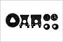 Kyosho 1/16 Scale Mini Inferno Series Center Bulk Set  KYOIH207