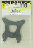 Mugen MBX-6 Silver 4mm Carbon Fiber Rear Shock Tower byXTreme Racing XTR12304