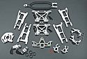 Traxxas Stampede 4x4 Silver V2 Aluminum Conversion Set INTT8558SILVER