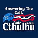 Vote Cthulhu T-shirt (XL) by Off World Designs  OWD22008-XL