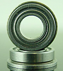 "3/16 x 3/8 x 1/8"" FLANGED Metal Shielded Bearing  FR166ZZ"