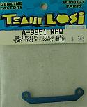 Team Losi 1/10th Scale Rear Hinge Pin Brace, 3� Blue/XX4  LOSA9951
