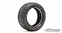 Sweep Racing 1/10 Buggy 4WD Front Tires 10Droid Silver dots 2pc Set  SWPSW101FSN